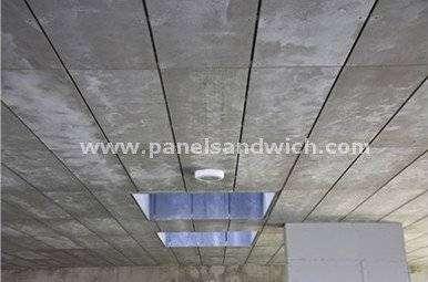 Panel sandwich madera viroc, mezcla con cemento