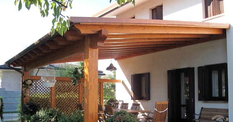 Construcci n porches baratos con panel sandwich teja - Panel sandwich de madera ...
