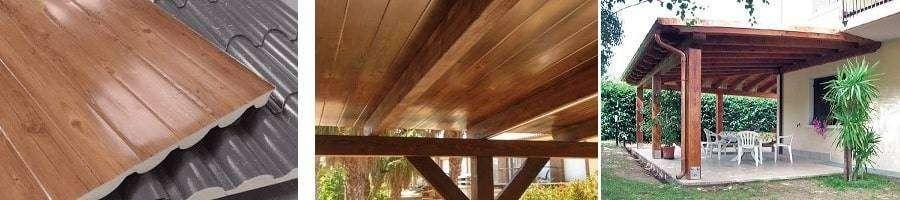 Porche panel teja de interior madera