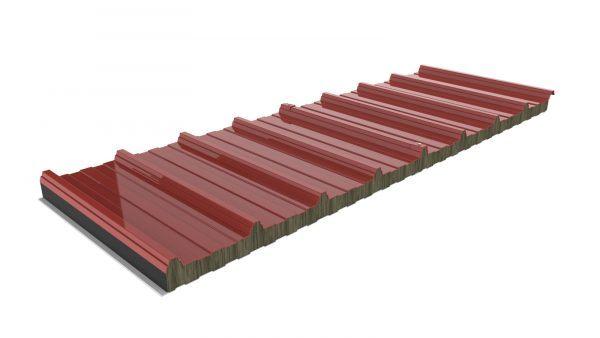 Lana de roca de cubierta Roja RAL 3009
