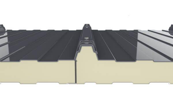 montaje y atornillado del panel sandwich 5 grecas para cubierta