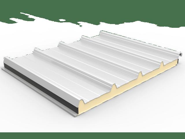 panel sandwich 5 grecas para cubiertas industriales con nucleo de poliuretano