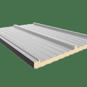 cubierta de panel sandwich con tapajuntas