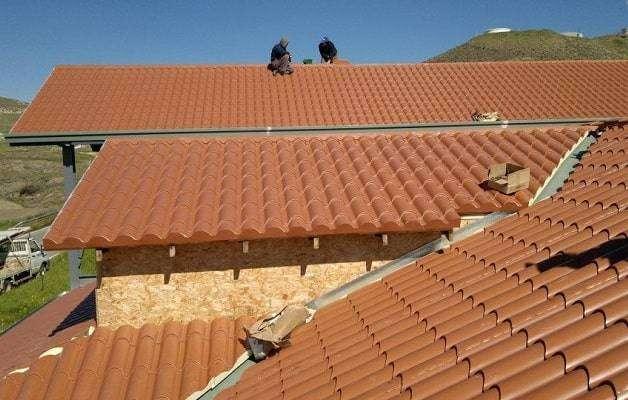 Panel de cubierta imitación teja