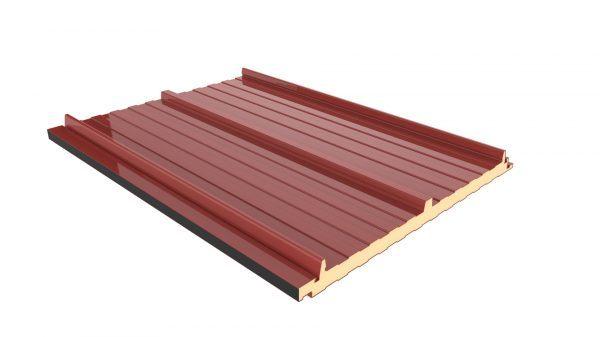 Panel Sandwich Tapajuntas color rojo detalle de union