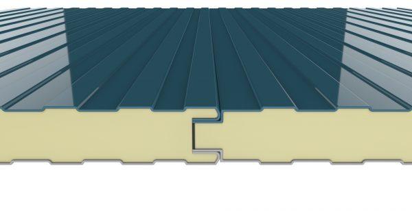 panel sandwich fachada de tornilleria vista