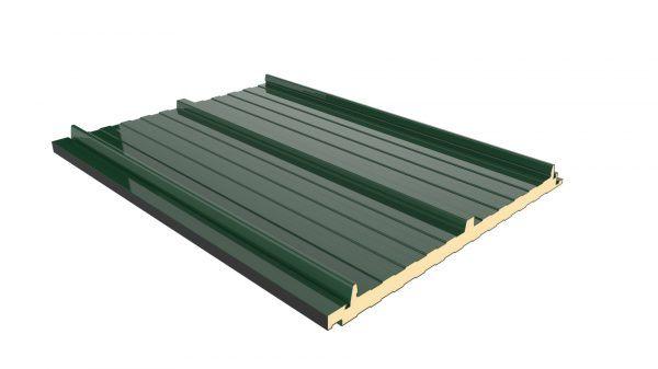 Panel Sandwich Tapajuntas color verde navarra para cubiertas de viviendas o naves indutriales