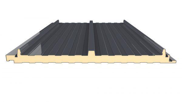 panel sandwich tapajuntas color negro para cubiertas prefabricadas