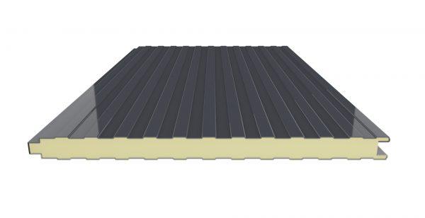 panel sandwich fachada de tornilleria vista color negro dextar