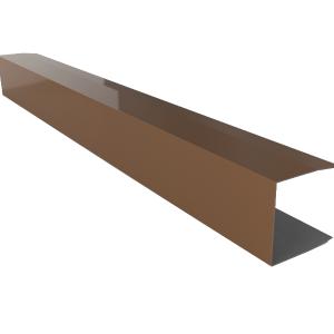 remate lateral para panel teja en RAL 8004