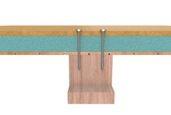 montaje del panel sandwich madera
