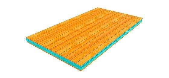 panel de madera con nucleo aislante friso de abeto