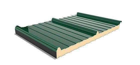 muestra de panel sandwich cubierta 3 grecas en verde
