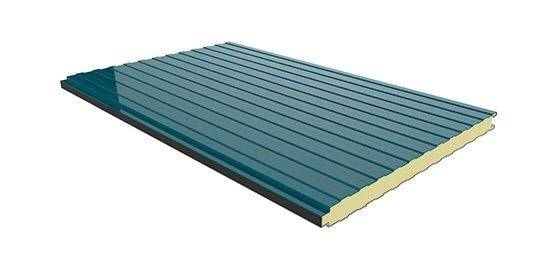 Panel Sandwich Fachada color azul lago RAL 4000