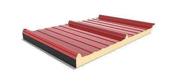 Panel Cubierta para granjas reforzado con poliester color rojo RAL 7001