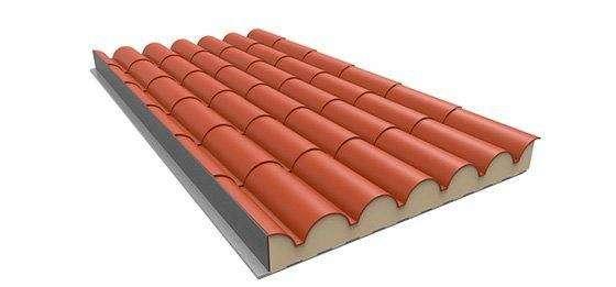 panel sandwich teja para cubiertas y tejados de casas