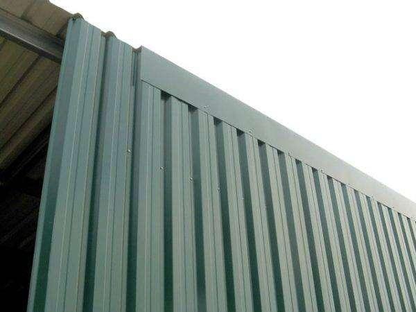 bandejas autoportantes en color verde para fachadas
