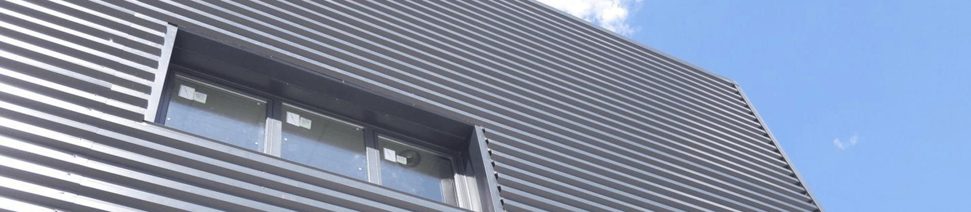 chapa grecada para fachada y cubierta