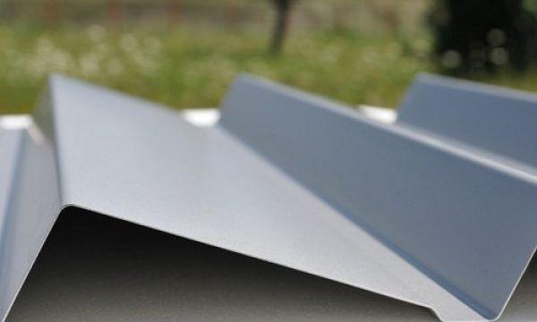 perfil ibiza para fachadas en color gris con plegado especial