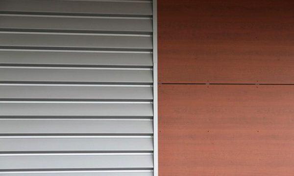 perfil ibiza para fachadas industriales en silver metallic RAL 9006