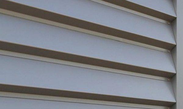 chapa para fachada perfil ibiza plegada en color gris