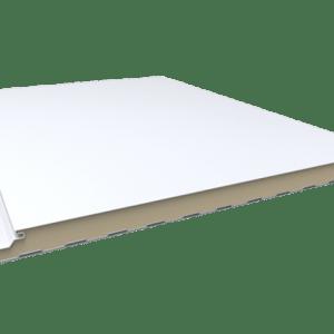 paneles sandwich para fachada lisa en color blanco