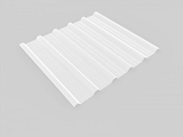 Plancha de poliester translúcido para colocar en la cubierta