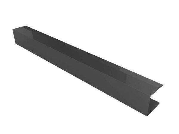 remate lateral para panel sandwich teja gris pizarra