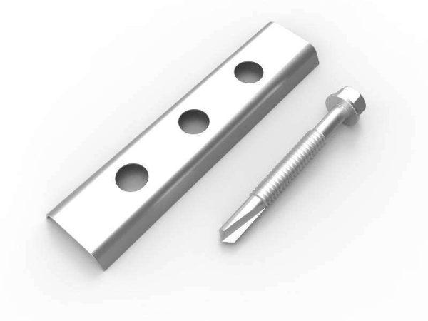 grapa y tornilleria para estructura metálica instalación del panel de fachada