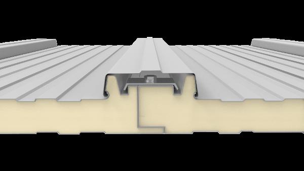 detalle de union y montaje del panel sandwich tapajuntas