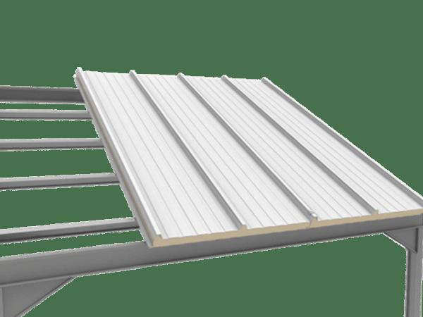 como montar el panel sandwich 3 grecas sobre estructura metalica