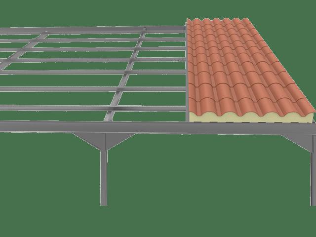 Precio panel sandwich teja rojo panel sandwich - Precio estructura metalica ...