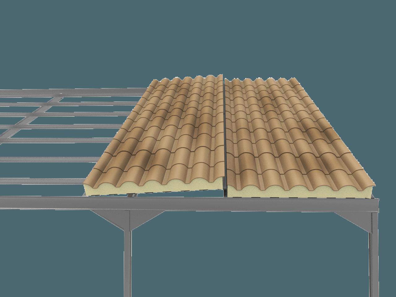 Precio panel sandwich teja albero envejecido panel sandwich - Precio estructura metalica ...