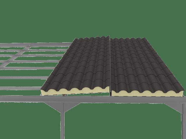 Precio panel sandwich teja gris pizarra 7022 panel sandwich - Precio estructura metalica ...