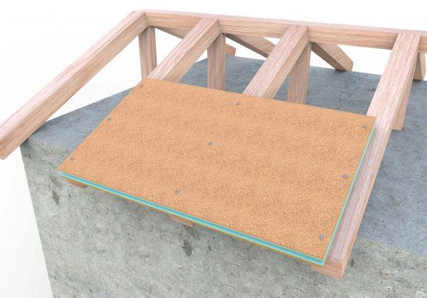 como se monta el panel de madera sobre estructura