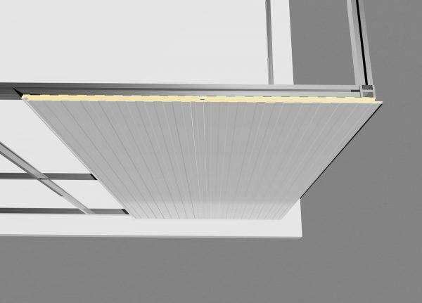 como instalar el panel sandwich fachada oculta sobre estructura metálica