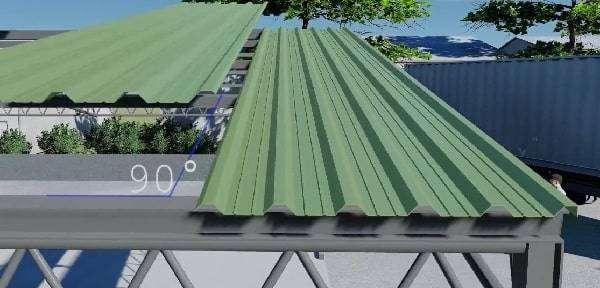 proceso de instalación de la chapa simple en cubierta