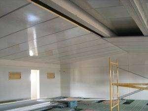 Falso techo para granjas de panel sandwich con aluminio y poliester