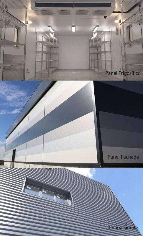 Los tres tipos de paneles danswich fachada para naves industriales
