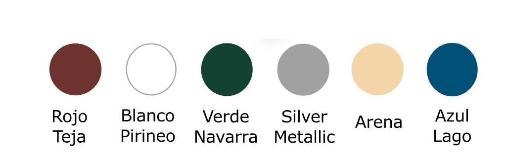 Colores acabado chapa Simple